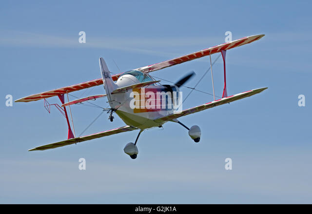 Chisten Eagle II Doppeldecker, Goodwood Aerodrome, West Sussex, England Stockbild