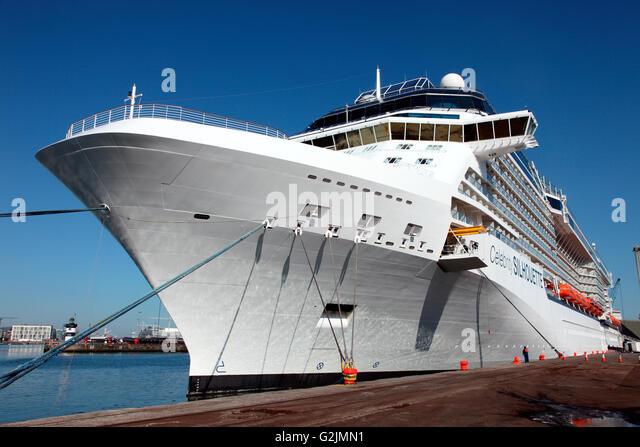 Celebrity Silhouette in Irland Dublin Hafen angedockt Stockbild