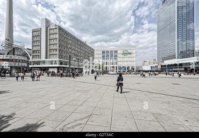 Reisen, Europa, Deutschland, Berlin, Hauptstadtkulturfonds: Alexanderplatz, Alex. Stockbild