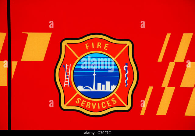Feuer-Dienstleistungen-Logo, Toronto, Kanada Stockbild