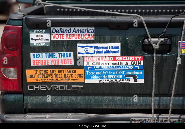 Rechter Flügel republikanischen Autoaufkleber Stockbild