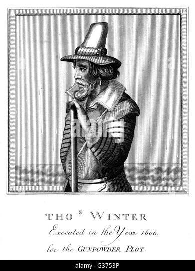 THOMAS WINTER Catholic Verschwörer in der Schießpulver-Plot, ausgeführt.        Datum:?? -1606 Stockbild