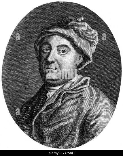 WILLIAM WOOLLETT historischen Stecher seine Majestät bisher: 1735-1785 Stockbild