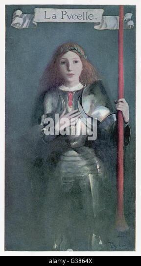 Jeanne d ' ARC französische Heldin Datum: 1412? -1431 Stockbild