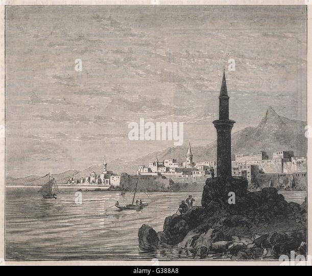 Datum: Ende des 19. Jahrhunderts Stockbild
