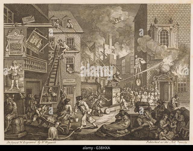 DEN Zeiten 1 2 eine Satire auf die politische Rivalität zwischen dem Pitt und Tempel Splitterparteien Datum: Stockbild