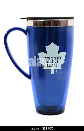 Toronto Maple Leafs nationale Hockey-Liga Travel Mug Stockbild