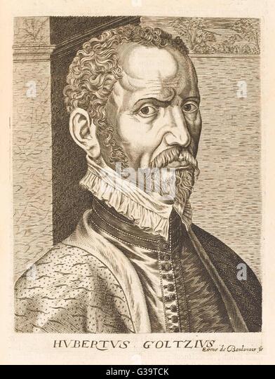 HUBRECHT GOLTZIUS flämischen Maler und antiquarische Datum: 1526-1583 Stockbild