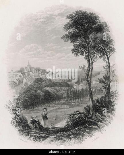 Datum: Mitte des 19. Jahrhunderts Stockbild