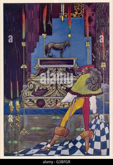Abbildung, um die Geschichte von Hans Andersen. Stockbild