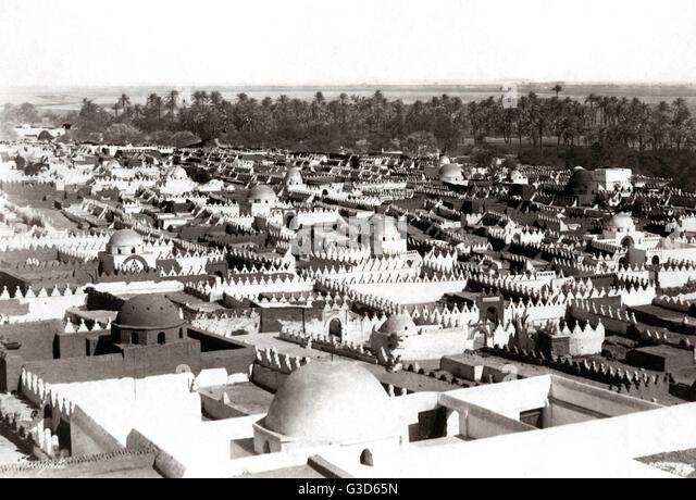 Blick auf den Nil Ägypten. der 1800er. Datum: 19. Jahrhundert Stockbild
