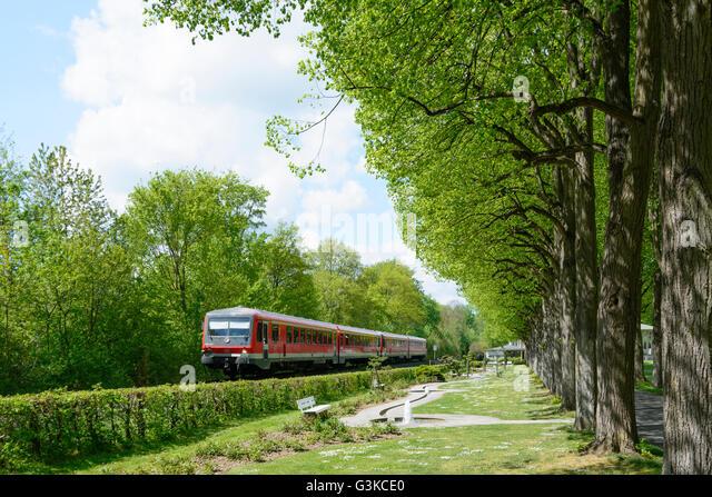 Kurpark, regionalen Schulen, DB AG, Deutschland, Baden-Württemberg, Taubertal, Bad Mergentheim Stockbild