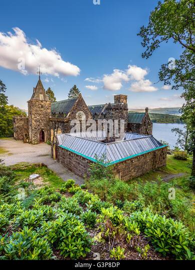 St. Conan Kirk befindet sich am Ufer des Loch Awe, Argyll and Bute, Scotland Stockbild