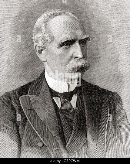 Feldmarschall Sir Donald Martin Stewart, 1. Baronet, 1824 ? 1900.  Senior British Indian Army Officer. Stockbild
