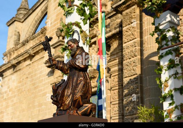 "Sherry Harvest in Jerez, treten die Trauben ""Fiesta De La Vendimia"" Jerez De La Frontera jedes Jahr im Stockbild"