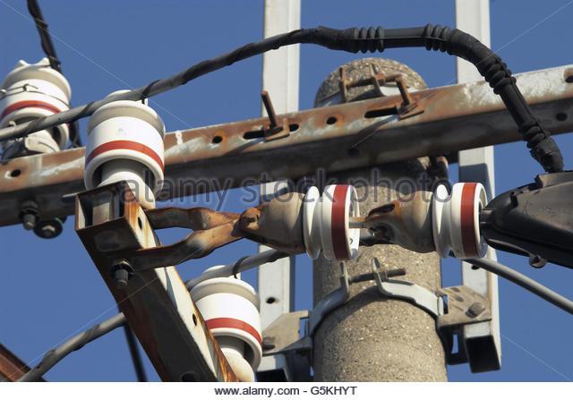 Stromkabel Stockbild