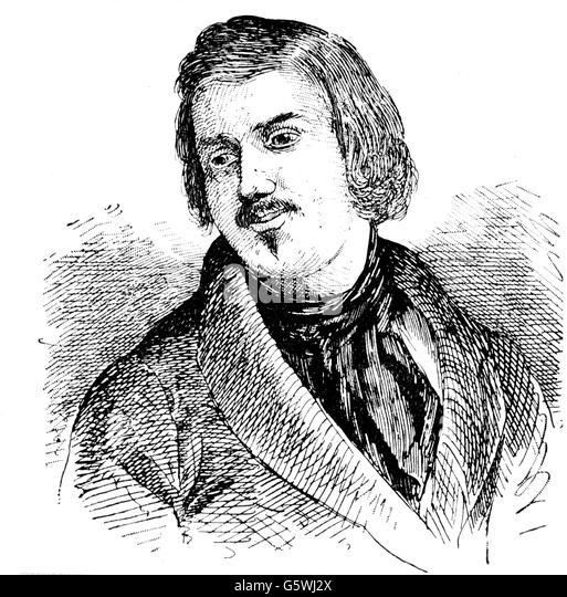Honore de Balzac, 19. Jahrhundert Stockbild