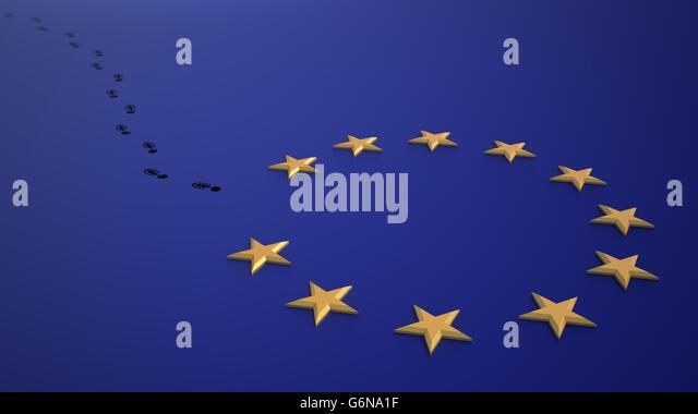 Brexit - britischen Referendum über die EU verlassen. Stockbild