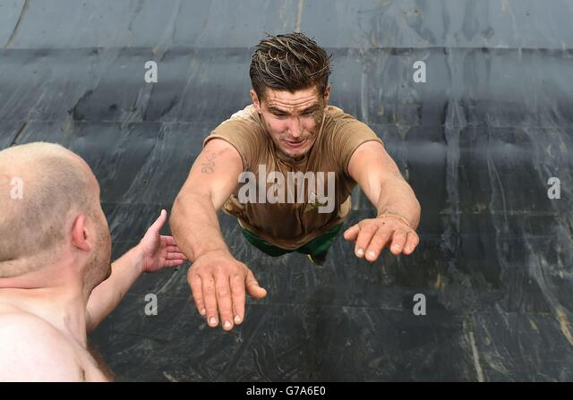 Süd-West - Tough-Mudder Cirencester Stockbild