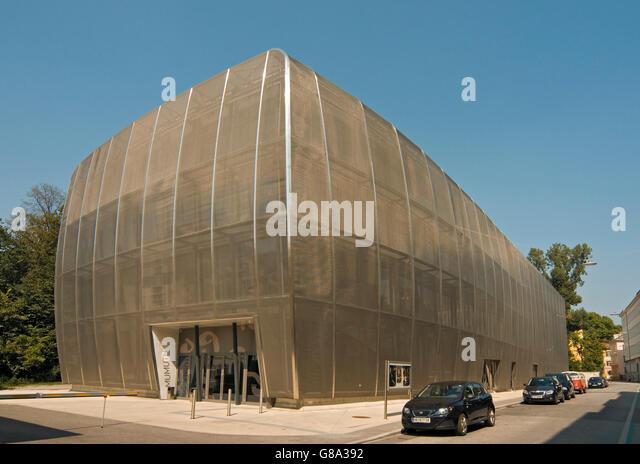 MUMUTH, Haus Fuer Musik Und Musiktheater oder Haus der Musik und Musik-Drama, Gebäude der KUG, Kunst Uni Graz, Stockbild