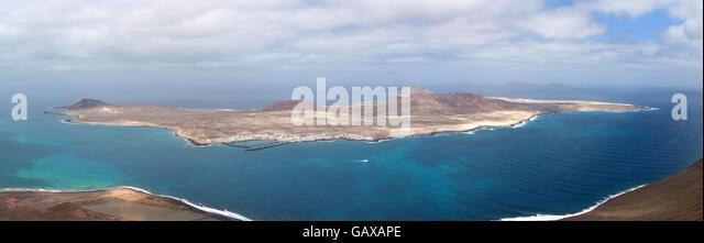 Kanaren Insel La Graciosa Stockbild