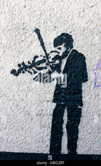Graffity - Stettin, Polen. Stockbild