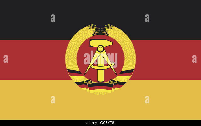 Heraldik, Flaggen, Deutsche Demokratische Republik, Nationalflagge, 1.10.1959 - 2.10.1990, Stockbild