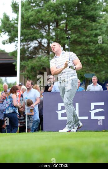 Celtic Manor, Newport, Wales - Samstag, 9. Juli 2016 - The Celebrity Cup Golf Wettbewerb ehemaliger Rugby-Spieler Stockbild