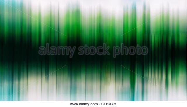 Grüne Bäume Equalizer horizontale Abstraktion Stockbild