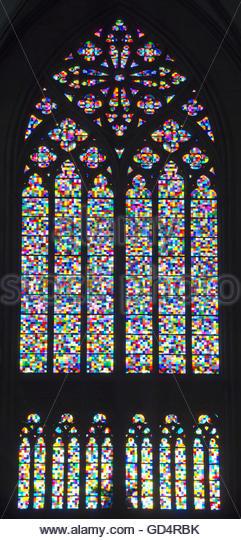 Richters Fenster von Gerhard Richter, Kölner Dom Stockbild
