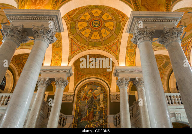 Library of Congress Washington DC Stockbild