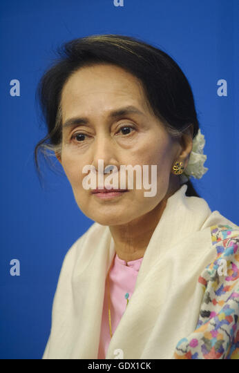 Aung San Suu Kyi Stockbild