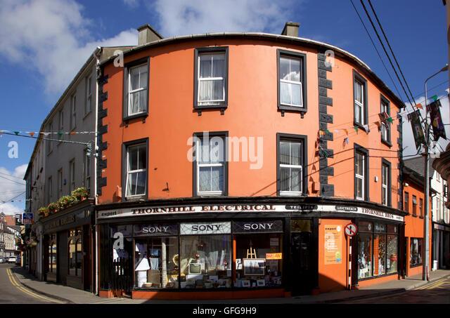 Straßenbild in Skibbereen, West Cork Stockbild
