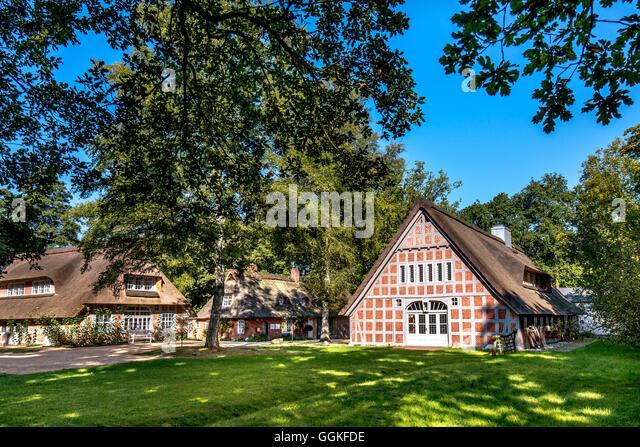 Museum Haus Im Schluh, Worpswede, Teufelsmoor, Niedersachsen, Deutschland Stockbild