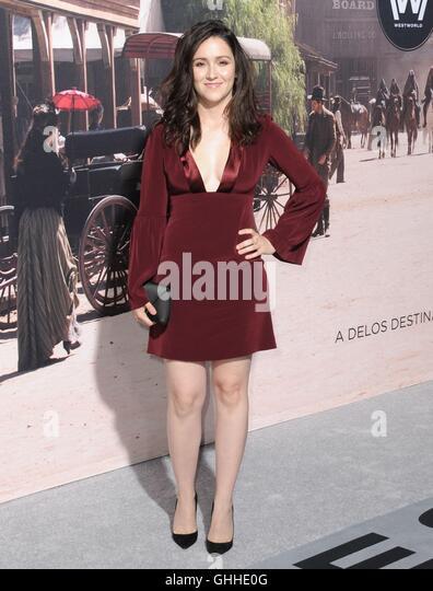 Los Angeles, CA, USA. 28. Sep, 2016. Shannon Woodward im Ankunftsbereich für WESTWORLD Premiere auf HBO, TCL Stockbild