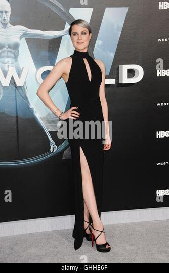 Los Angeles, CA, USA. 28. Sep, 2016. Evan Rachel Wood im Ankunftsbereich für WESTWORLD Premiere auf HBO, TCL Stockbild