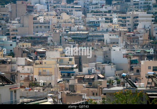 Skyline, Athen, Griechenland. Stockbild