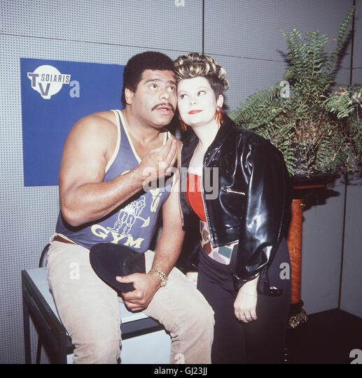 Günther Kaufmann (Anfang 90er Jahre) & Ilse Biberti Stockbild