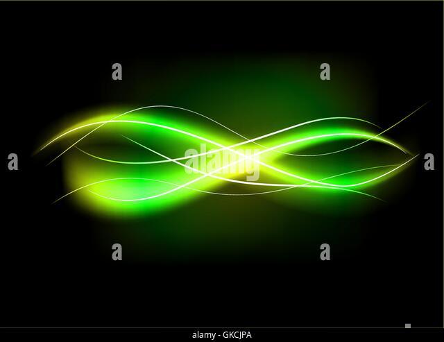 Verschwommen abstrakt grün gesäumt Lichteffekt Hintergrund Stockbild
