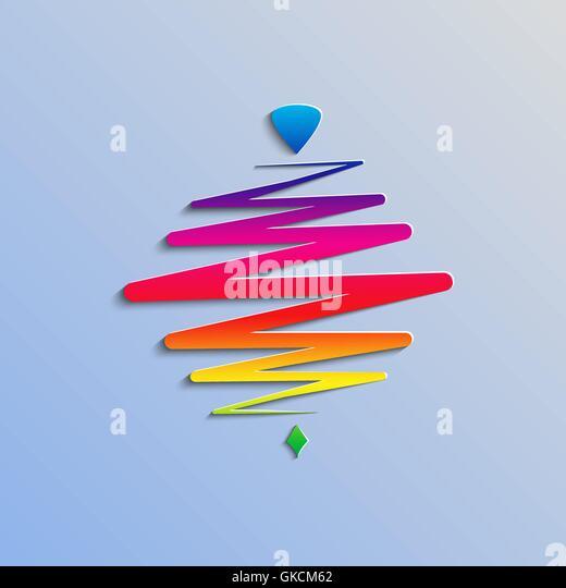 moderne Farbe Whirligig, vor einem abstrakten Hintergrund. Schnelle Whirlabout. Leuchtende Peg-Top. Vektor-Illustration. Stockbild