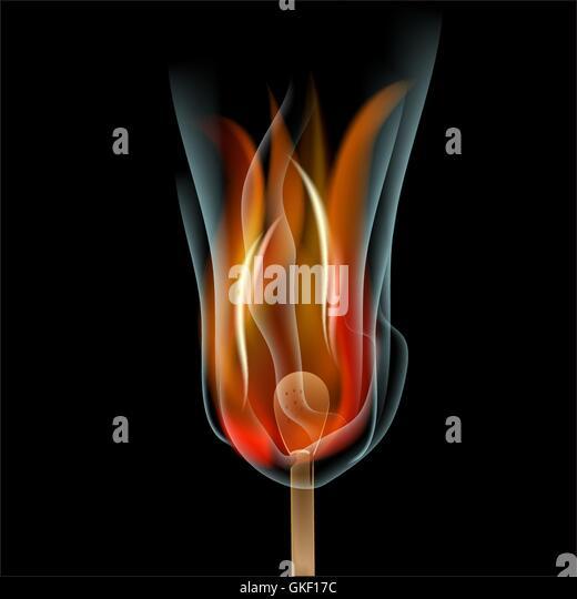Brennen Sie Spiel auf schwarzem Hintergrund Stockbild