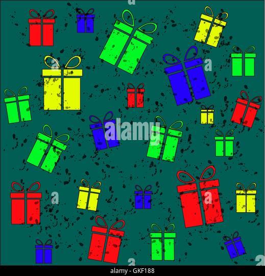 Geschenk-Vintage-Hintergrund Stockbild