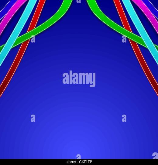Zusammenfassung Hintergrund mit farbigen Linien Stockbild