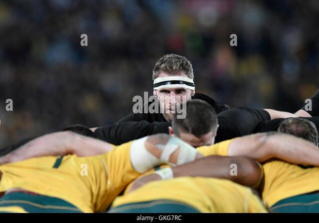 Sydney, Australien. 20. August 2016. Die Rugby-Meisterschaft und Bledisloe Cup. Australien Neuseeland Verse. Alle Stockbild