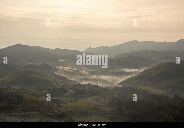 Bestandsaufnahmen Bergen, Süd-Kivu, demokratische Republik Kongo. Stockbild