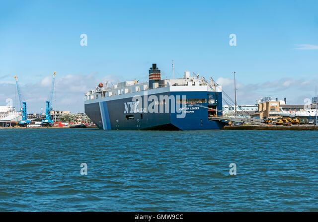 NYK Line Jupiter Leader laden Fahrzeugausstattung in Southampton Hafen Hafen Southampton Hampshire England Stockbild