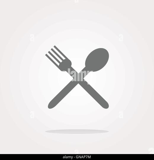 Fork Flat Icon Stockfotos Fork Flat Icon Bilder Alamy