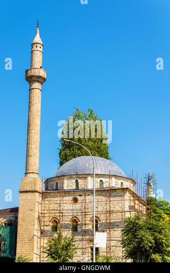 Ansicht der Carshi Moschee in Pristina - Kosovo Stockbild