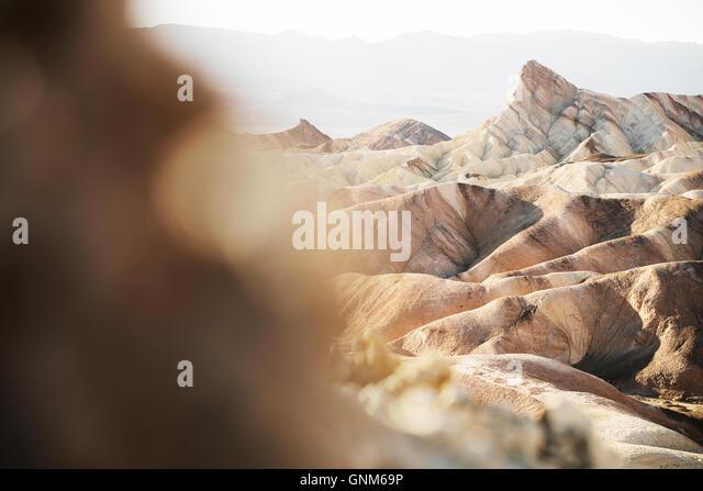 Zabriskie Point in Death Valley Nationalpark Stockbild