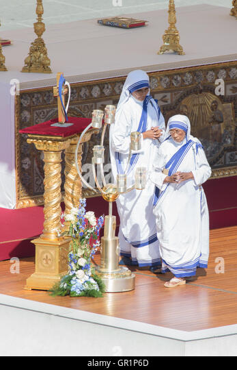 Heiligsprechung von Mutter Teresa von Kalkutta - Stock-Bilder